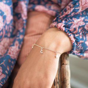 Triple Charm Personalised Bracelet
