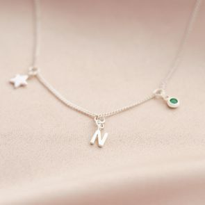 Triple Charm Personalised Necklace