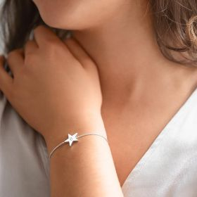 Star Slider Bracelet Personalised with an Initial