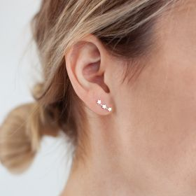 Sterling Silver Earrings with Three Stars
